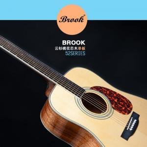 正品BROOK布鲁克52云杉单板吉他[电箱款]