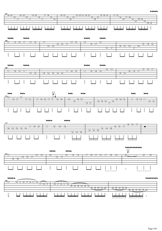 《jerryc 卡农摇滚版》吉他谱
