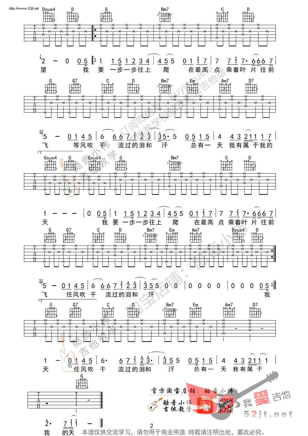 《蜗牛 g调简单版 吉他谱视频》吉他谱 周杰伦 - 彼岸图片
