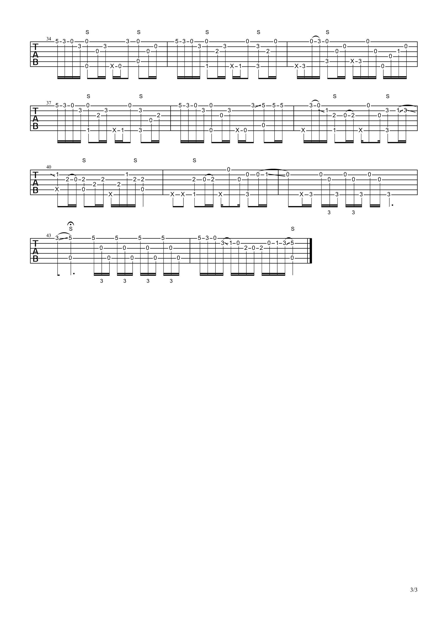 枫叶城(指弹) 吉他谱图片