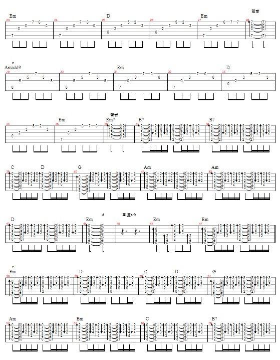《錯錯錯》吉他譜圖片
