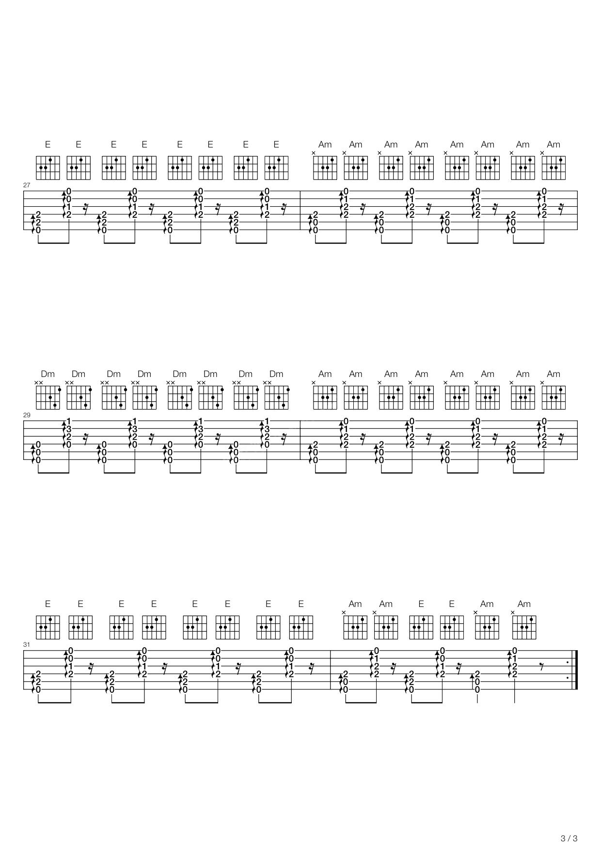 吉尔拉(新疆民曲) 吉他谱图片