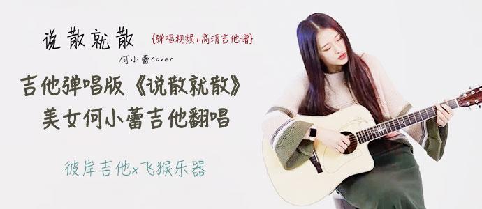 吉他弹唱版《说散就散》美女何小蕾吉他翻唱 彼岸吉他x飞猴乐器  上传于 2018-03-22 彼岸吉他+订阅
