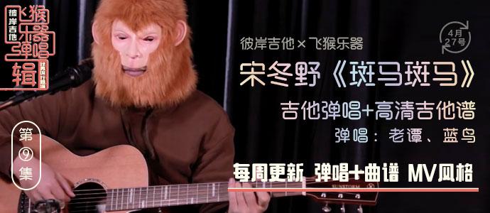 民谣  宋冬野 《斑马斑马》吉他弹唱+高清吉他谱