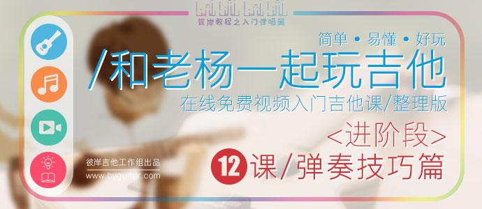 和老杨一起玩吉他-整理版<进阶段>弹奏技巧篇-12课时已发布!