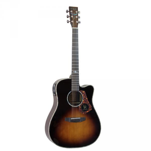 圣马可SMK570渐变色单板电箱民谣吉他