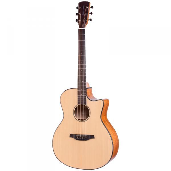 SUNSTORM太阳风S-200 初学者入门弹唱40寸GA桶民谣单板木吉他-40寸原木色
